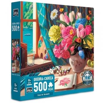 Quebra Cabeça Casa De Veraneio 500 Pçs Puzzle Game Office