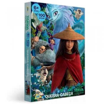 Quebra Cabeça Disney 100 Pçs Raya E O Dragão Toyster 2862