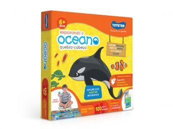Puzzle Quebra Cabeça Explorando O Oceano 120 Peças - Toyster 2666