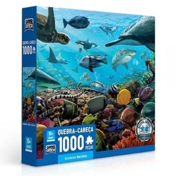 Quebra-cabeça Game Office Criaturas Marinhas De 1000 Pçs