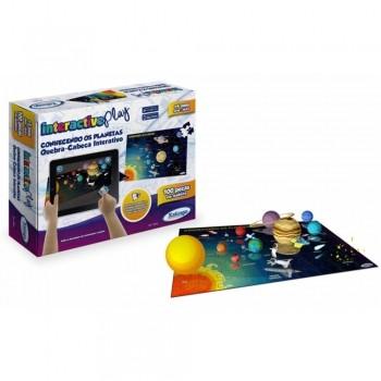 Quebra-cabeça Madeira Interactive Play Conhecendo Os Planetas