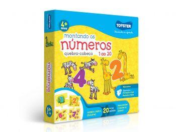 Puzzle Quebra-Cabeça Montando os números 1 ao 20 Toyster