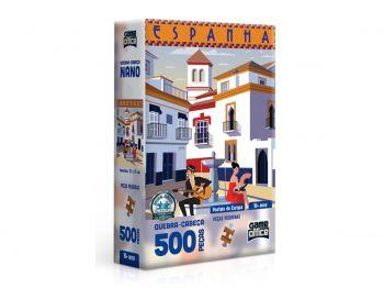 Puzzle Quebra-cabeça Postais Da Europa - Espanha 500 Peças Nano Toyster