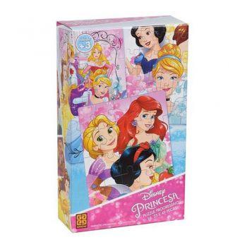 Quebra-cabeça Progressivo Princesas Disney - Grow 2162