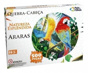 Quebra-Cabeça Redondo Natureza Esplêndida Pais e Filhos 500