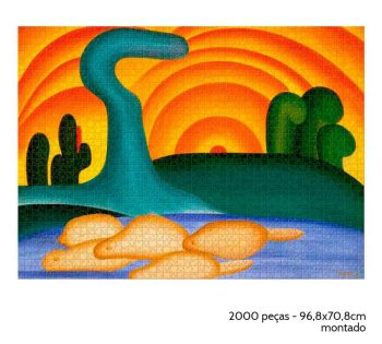 Quebra-cabeça Sol Poente De Tarsila Do Amaral 2000 Peças -