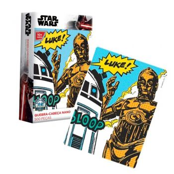 Puzzle Quebra-cabeça Star Wars - 500 Peças Nano R2d2 & C3po Toyster