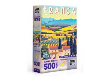 Puzzle Quebra-cabeça Toyster Postais Da Europa França 500 Peças Toyster