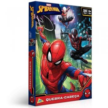 Quebra Cabeça Toyster Spider Man Homem Aranha 100 Peças - 2395