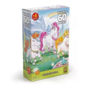 Quebra Cabeça Unicornios 60 Peças Puzzle - Grow
