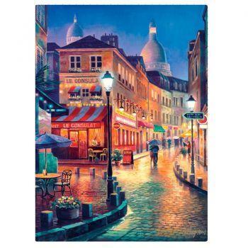 Puzzle Quebra-cabeça - Vielas Francesas - Bares Noturnos - 1000 Pçs Toyster