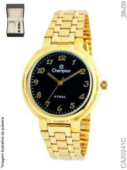Relógio Analógico Feminino Champion CA20241C Dourado + Pulseira
