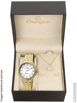 Relógio Champion Analógico CA20205W Feminino + Semijóia