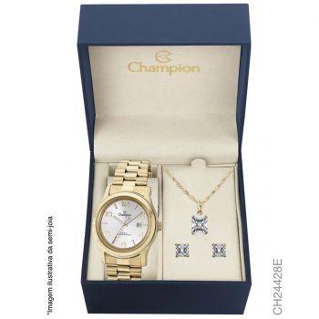 Relógio Champion Analógico Feminino CH24428E + Semijóia