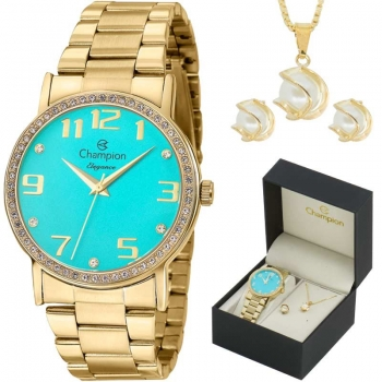 Relógio Champion Analógico Feminino Cn29016y + Kit Semijóia