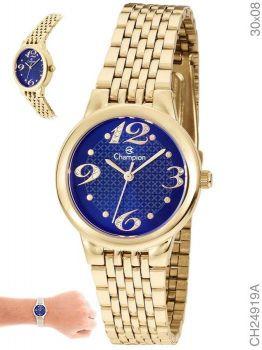 Relógio Champion Ch24919a Feminino Dourado