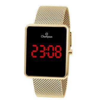 Relógio Champion Digital Ch40080v Dourado Unissex