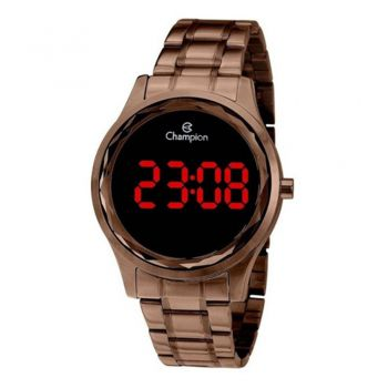 Relógio Champion Digital CH48019R Feminino Chocolate
