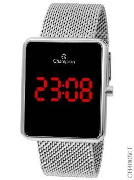 Relógio Champion Digital Prata Ch40080t Unissex