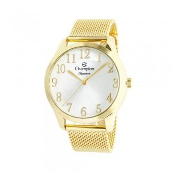 Relógio Champion Dourado Feminino Original CN26019M