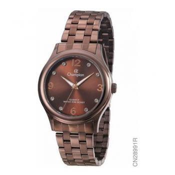 Relógio Champion Feminino Chocolate Marrom Elegance CN28991R