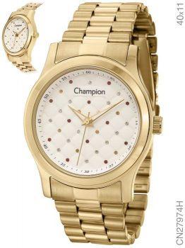Relógio Champion Feminino CN27974H Dourado