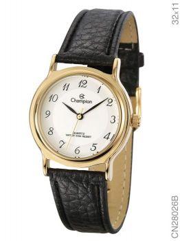 Relógio Champion Feminino Cn28026b Pulseira Couro