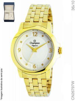 Relógio Champion Feminino + Conjunto Semi Joia CN26797W