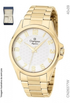 Relógio Champion Feminino Dourado Cn26377w