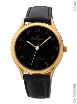 Relógio Champion Feminino Dourado E Preto CH22233N