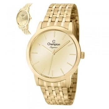 Relógio Champion Feminino Dourado Espelhado Cn27732g 3,9cm