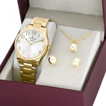 Relógio Champion Feminino Dourado Grande P/d'água Escolha o Seu