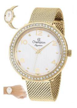 Relógio Champion Feminino Dourado Ouro Cn24173h Prova D'água 1 Ano de Garantia