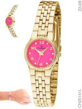 Relógio Champion Feminino Dourado Social CH25141L