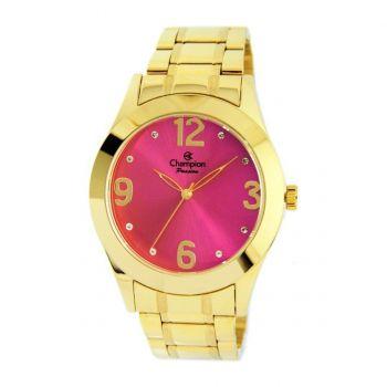 Relógio Champion Feminino Dourado Visor Rosa CH24268L