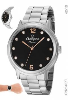 Relógio Champion Feminino Prata Grande Prova D'água Escolha o Seu