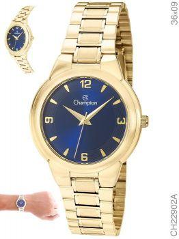 Relógio Champion Feminino Original CH22902A Dourado