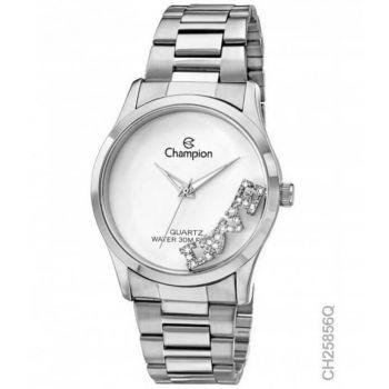 Relógio Champion Feminino Prata com Pingente Love CH25856Q