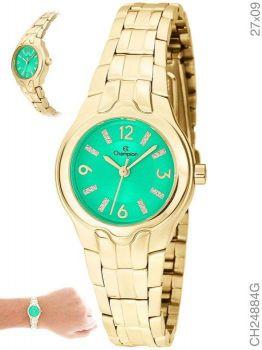 Relógio Champion Feminino Social CH24884G Fundo Verde