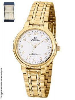 Relógio Champion Feminino Social Dourado CN28142W