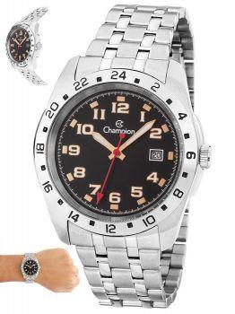 Relógio Champion Masculino Analógico Prata Casual Ca31346t