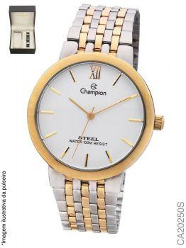 Relógio Champion Masculino CA20250S Dourado e Prata + Pulseira