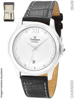 Relógio Champion Masculino CA20563D Pulseira Couro Preta
