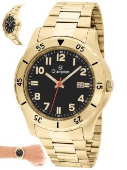 Relógio Champion Masculino Dourado Casual Ca31524u