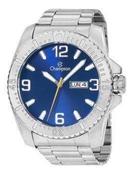 Relógio Champion Masculino Prateado Calendário Original