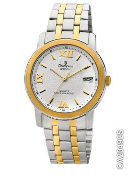 Relógio Champion Masculino Steel Ca20492s Prata com Dourado