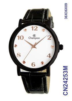 Relógio Champion Social CN24253M Preto Fundo Branco