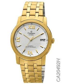 Relógio Champion Steel Unissex Ca20492h Dourado