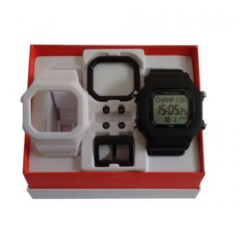 Relógio Champion Yot Original Cp40180x Preto Branco