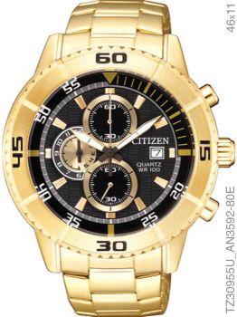 Relogio Citizen Masculino Cronografo TZ30955U Dourado